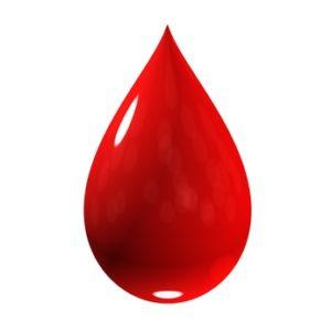 roter Bluttropfen